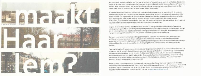 thumbnail of Wie Maakt Haarlem